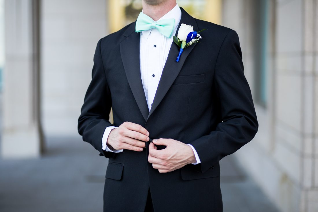 Groomsman at wedding