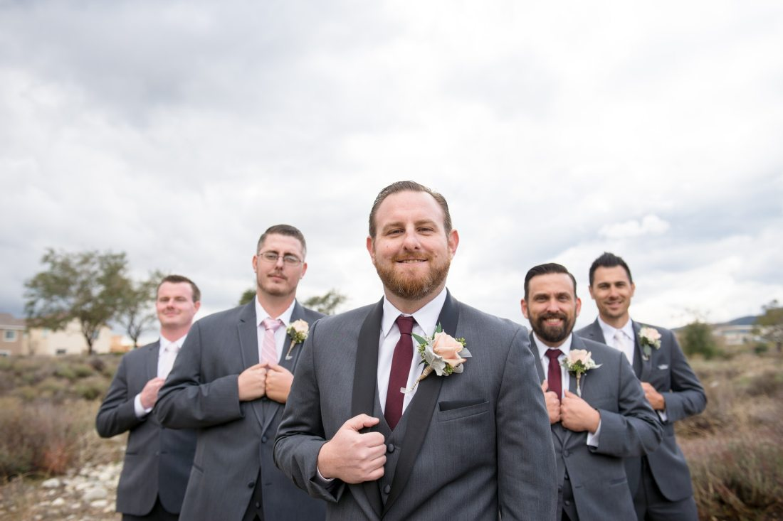 Groomsmen at wedding